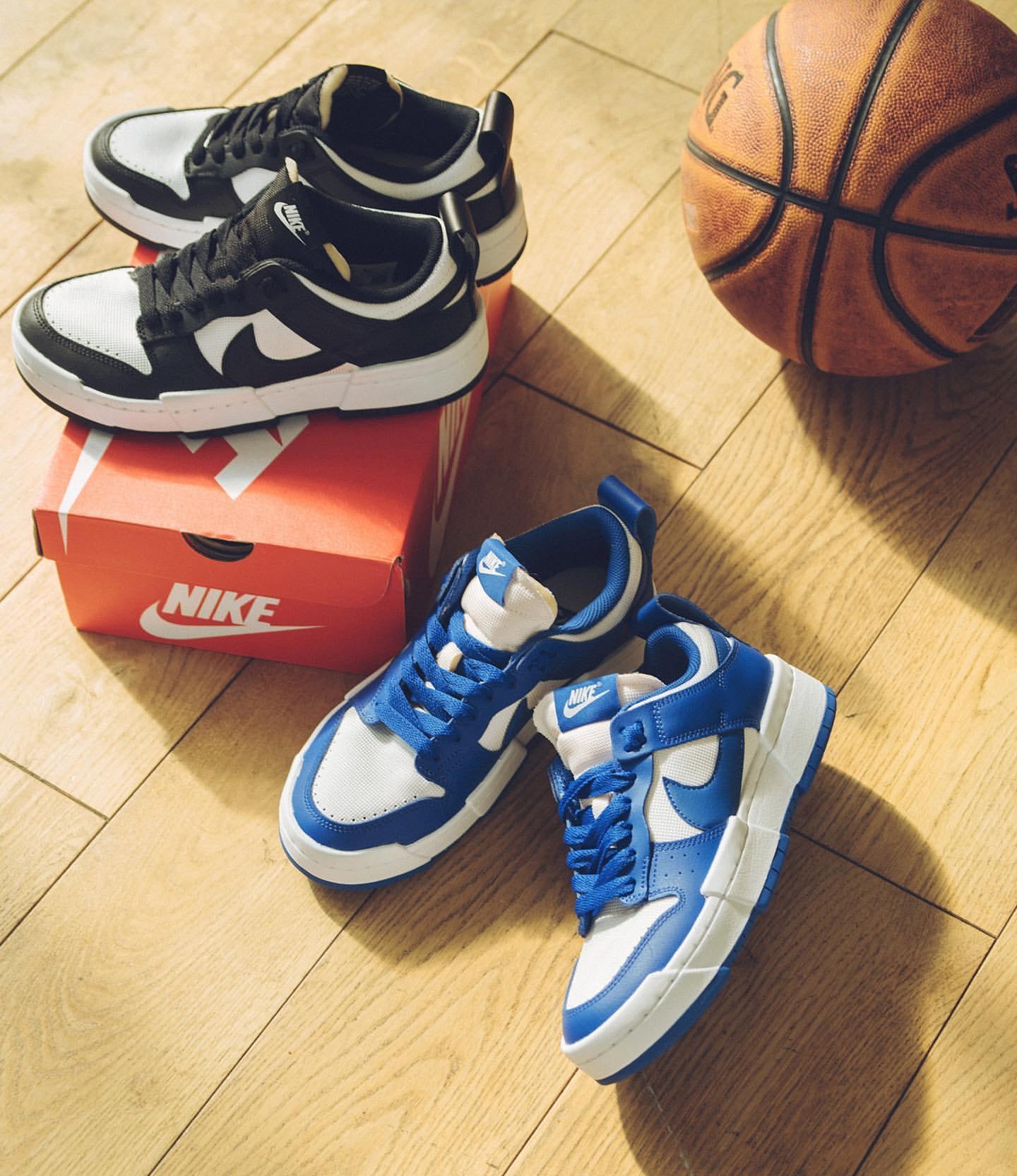 Nike WMNS Dunk Low Disrupt ナイキ ダンク ロー ディスラプト CK6654-100 CK6654-102 black Game Royal main