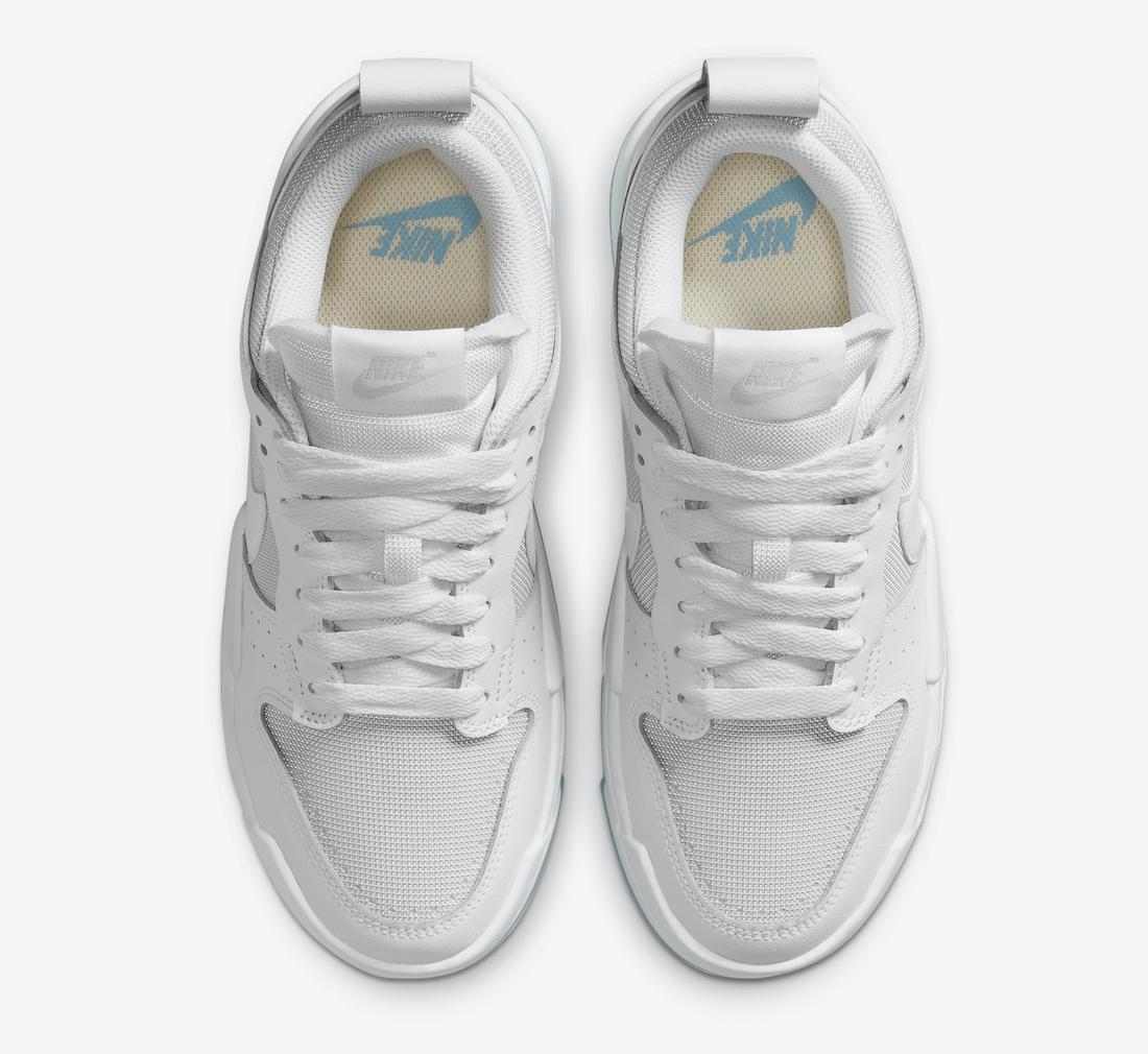 Nike WMNS Dunk Low Disrupt ナイキ ダンク ロー ディスラプト CK6654-001 white above