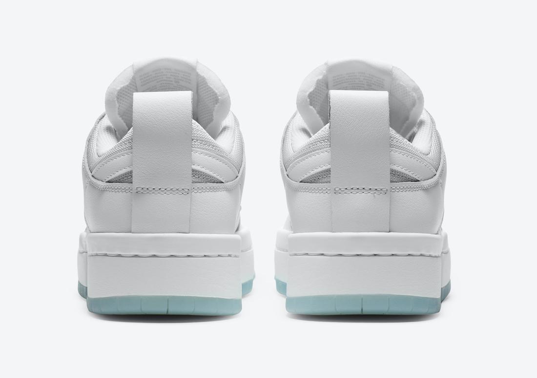 Nike WMNS Dunk Low Disrupt ナイキ ダンク ロー ディスラプト CK6654-001 white back