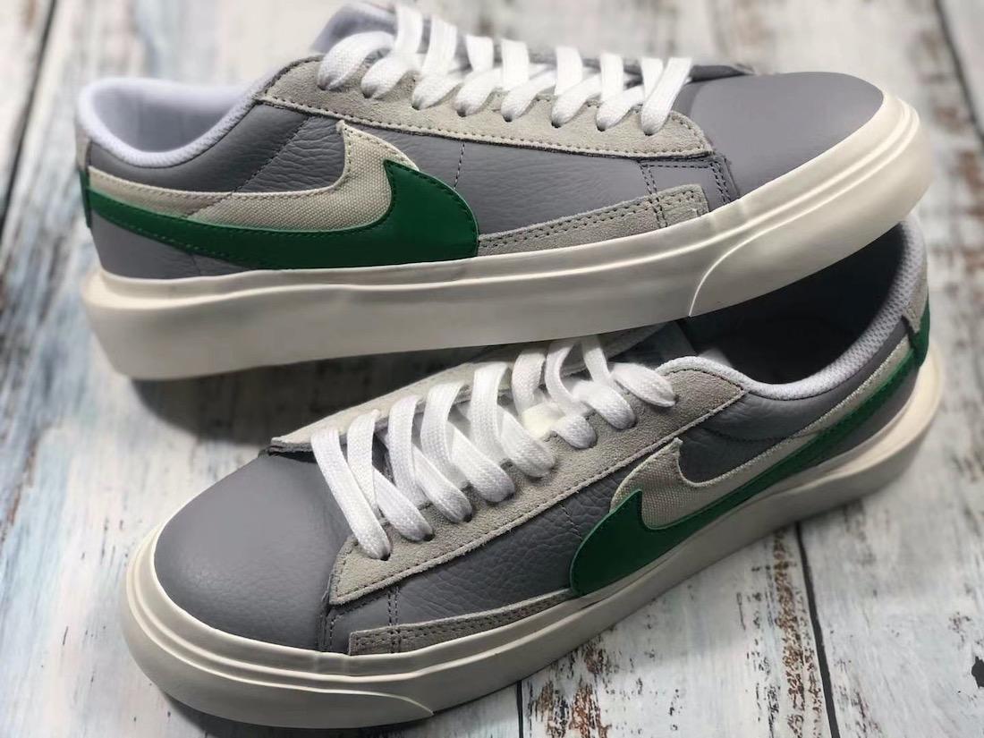 Sacai Nike Blazer Low サカイ ナイキ ブレーザー ロー green side swoosh pair