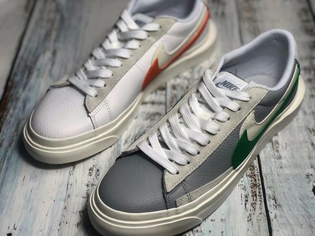 Sacai Nike Blazer Low サカイ ナイキ ブレーザー ロー green orange front