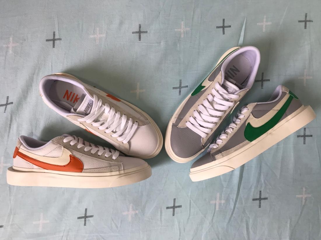 Sacai Nike Blazer Low サカイ ナイキ ブレーザー ロー green orange pair