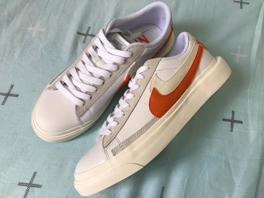 Sacai Nike Blazer Low サカイ ナイキ ブレーザー ロー orange side pair