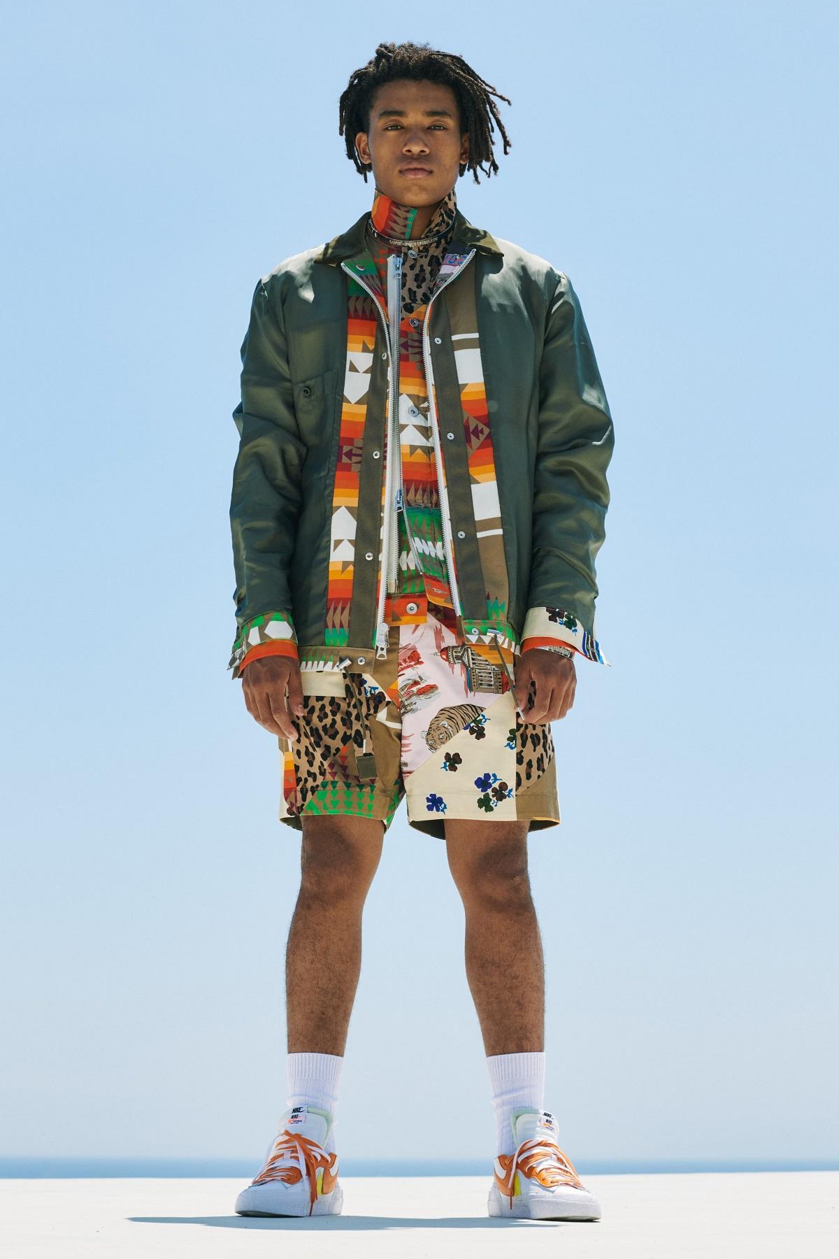 Sacai × Nike Blazer Low (サカイ × ナイキ ブレーザー ロー) Orange menswear
