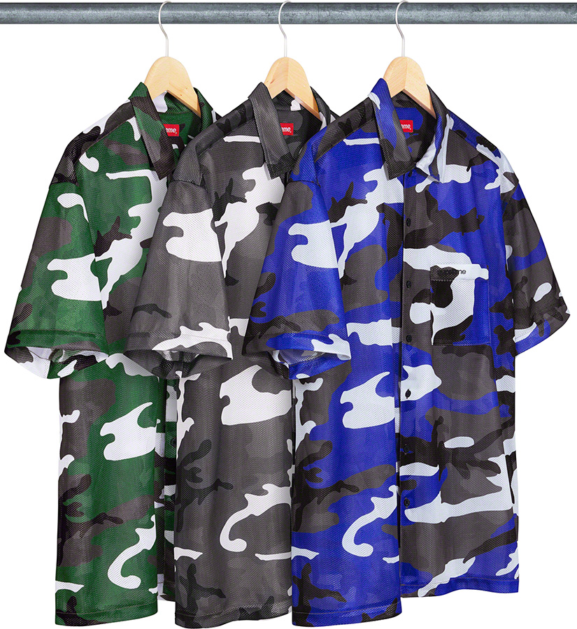 Supreme 2020fw Camo Mesh SS Shirt シュプリーム カモ メッシュ シャツ