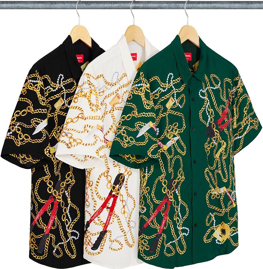 Supreme 2020fw Chains Rayon SS Shirt シュプリーム チェーン レーヨン シャツ