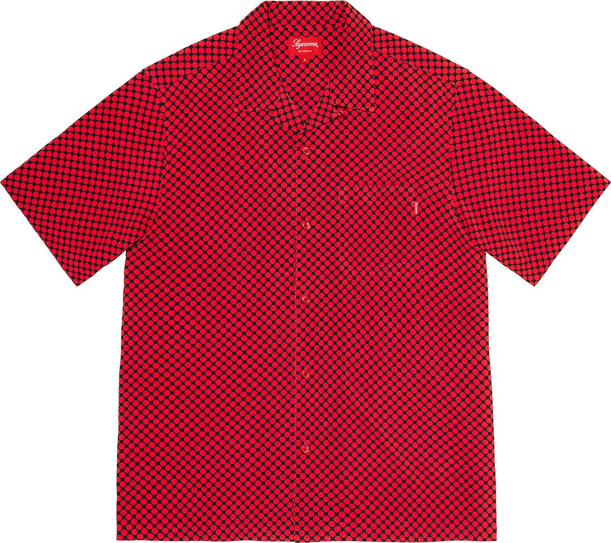 Supreme 2020fw Compact Dot Rayon SS Shirt シュプリーム コンパクト ドット レーヨン シャツ レッド