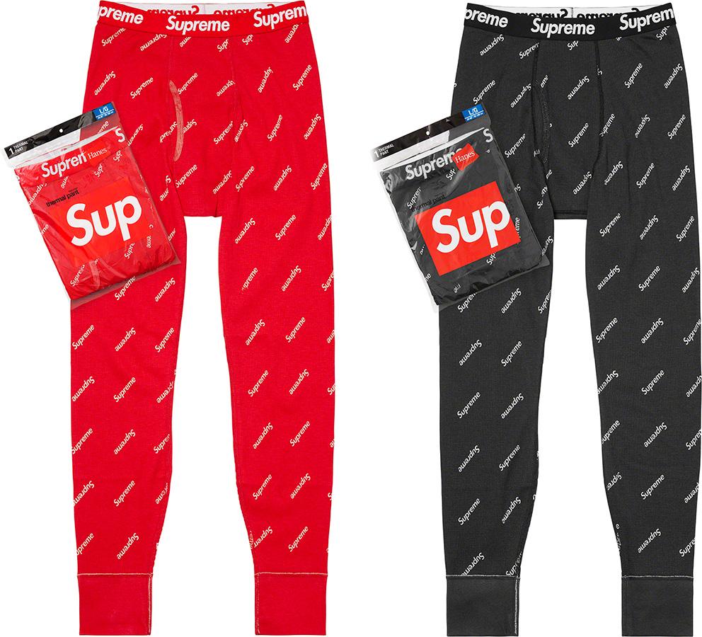 Supreme 2020fw Hanes Thermal Pant (1 Pack) シュプリーム ヘインズ パンツ