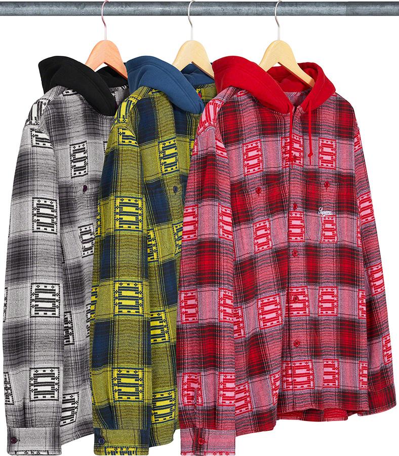 Supreme 2020fw Hooded Shadow Plaid Shirt シュプリーム フード シャツ