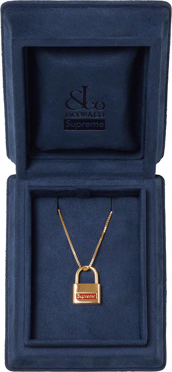 Supreme 2020fw Jacob & Co. 14K Gold Lock Pendant シュプリーム コラボ ネックレス