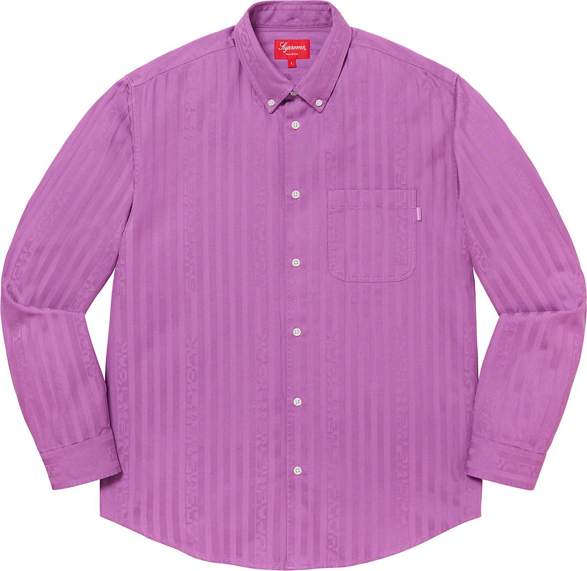 Supreme 2020fw Jacquard Stripe Twill Shirt シュプリーム ストライプ シャツ ピンク