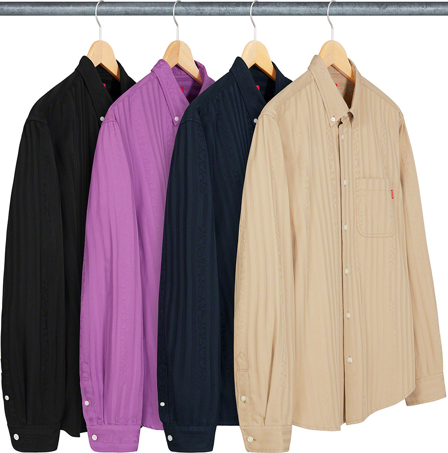 Supreme 2020fw Jacquard Stripe Twill Shirt シュプリーム ストライプ シャツ