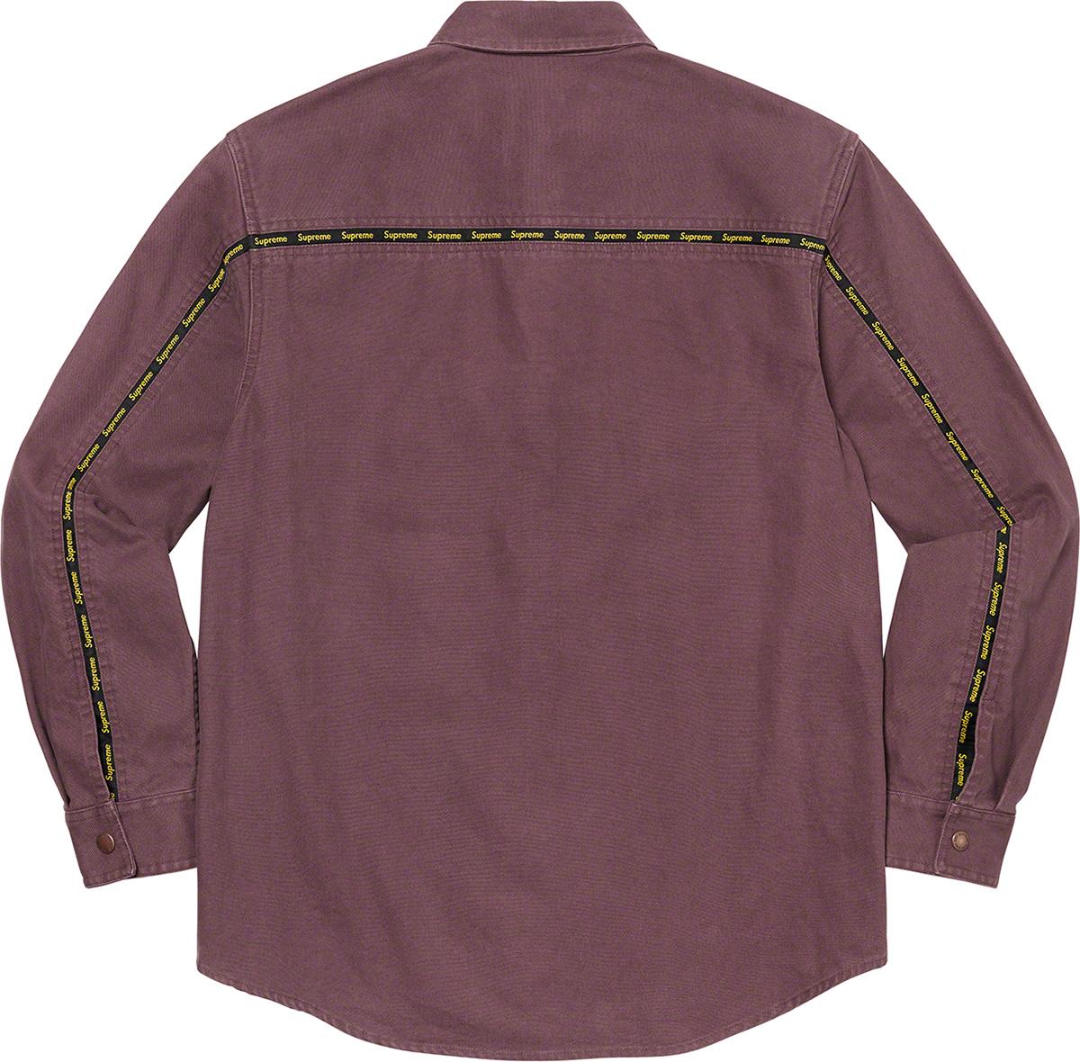 Supreme 2020fw Logo Taping Work Shirt シュプリーム ワークシャツ ピンク 後ろ