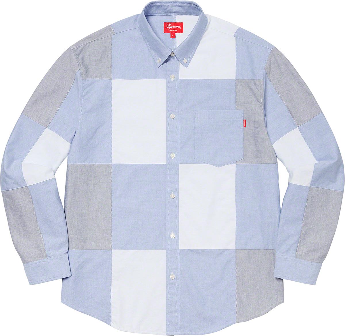 Supreme 2020fw Patchwork Oxford Shirt シュプリーム パッチワーク シャツ
