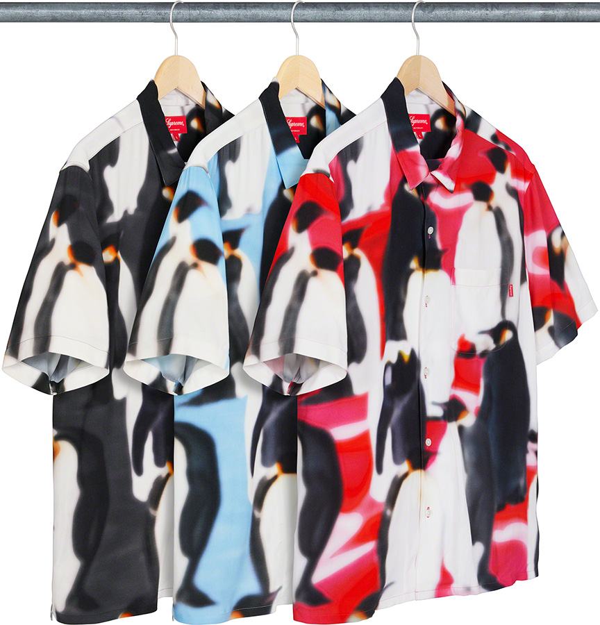 Supreme 2020fw Penguins Rayon SS Shirt シュプリーム レーヨン シャツ