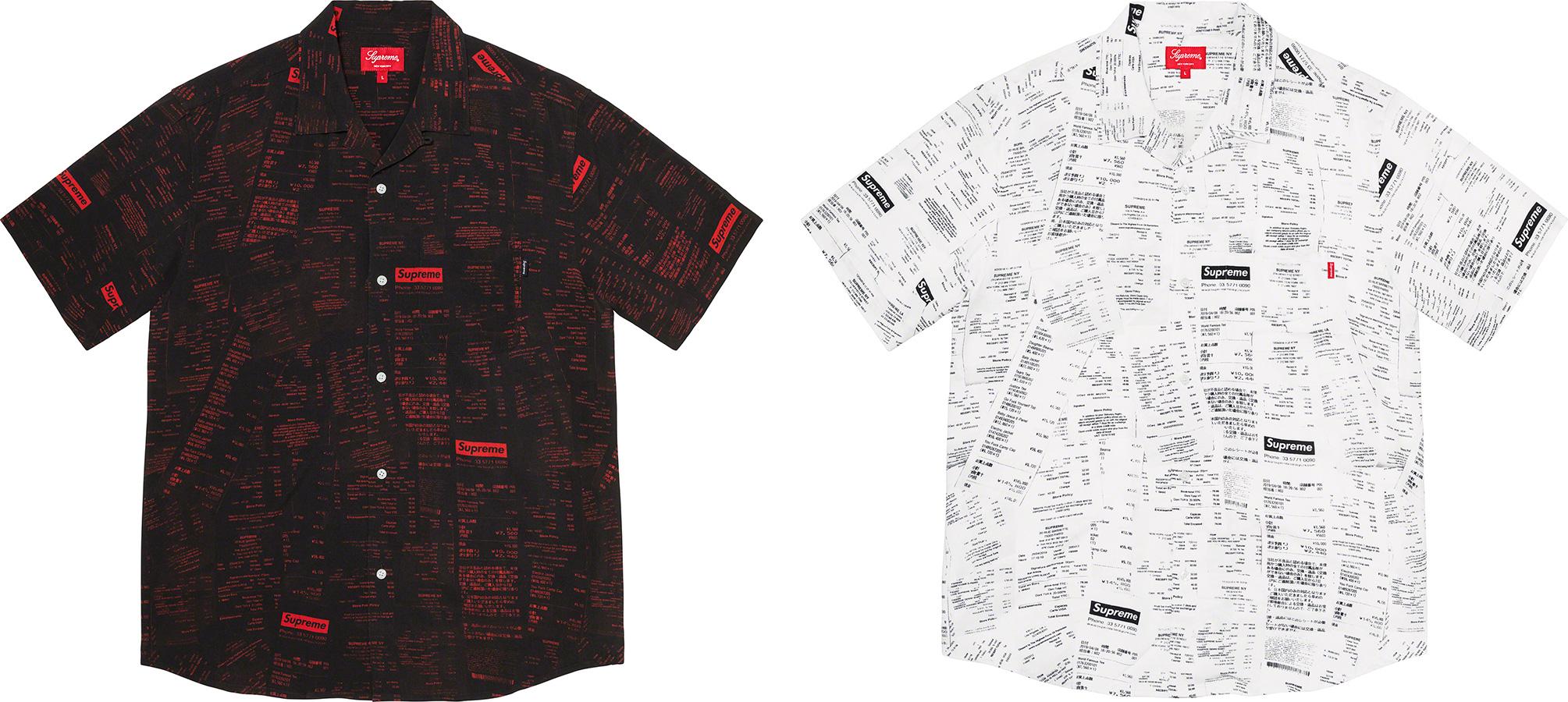 Supreme 2020fw Receipts Rayon SS Shirt シュプリーム レーヨン シャツ