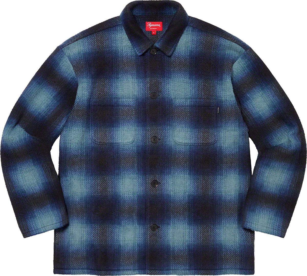 Supreme 2020fw Shadow Plaid Fleece Shirt シュプリーム チェック ブルー