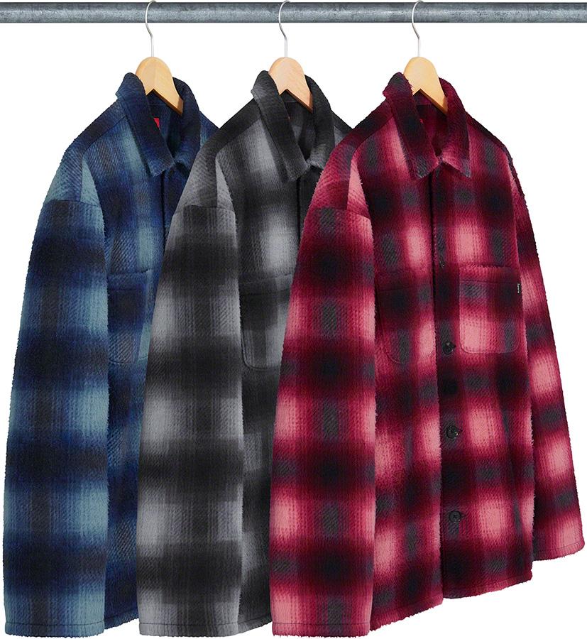 Supreme 2020fw Shadow Plaid Fleece Shirt シュプリーム チェック