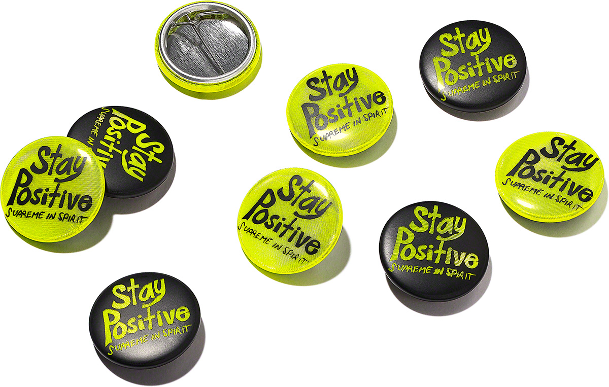 Supreme 2020fw Stay Positive Button シュプリーム ステイ ポジティブ ボタン