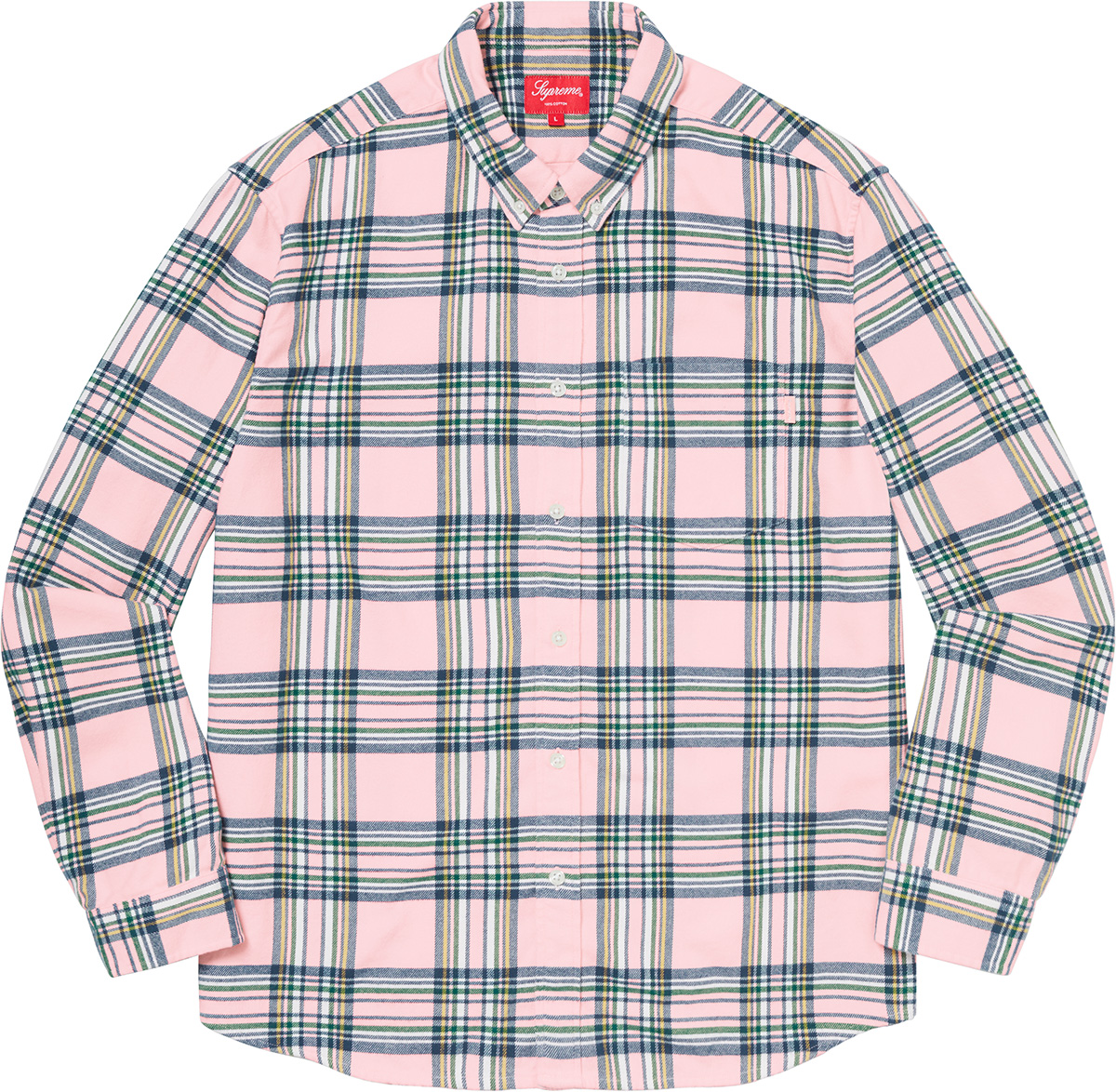 Supreme 2020fw Tartan Flannel Shirt シュプリーム ピンク