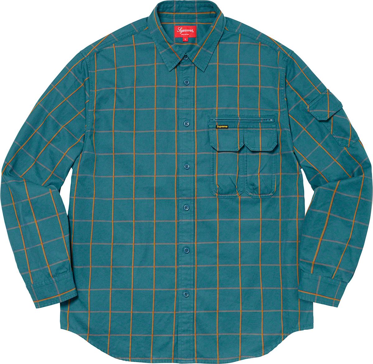 Supreme 2020fw Twill Multi Pocket Shirt シュプリーム マルチ ポケット シャツ ブルー