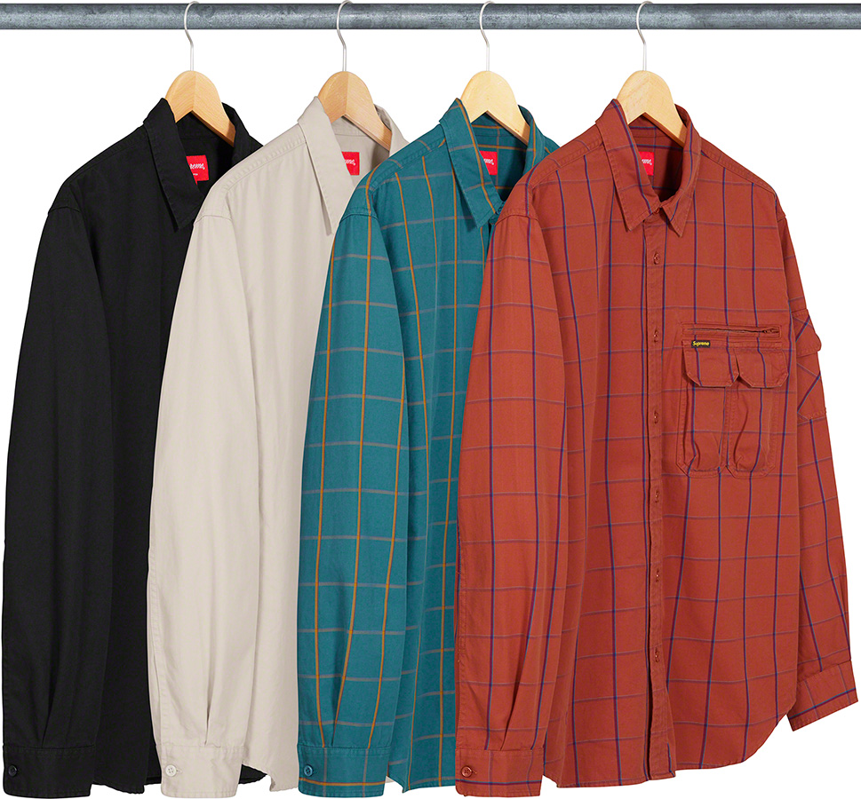 Supreme 2020fw Twill Multi Pocket Shirt シュプリーム マルチ ポケット シャツ