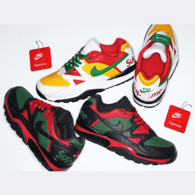 シュプリーム ナイキ エア クロス トレーナー 3 ロー nike-supreme-cross-trainer-low-sneakers-red-green-black-white-yellow-collaboration