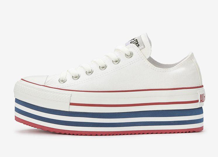 コンバース オールスター チャンキーライン 厚底 スニーカー ホワイト Converse ALL STAR CHUNKYLINE OX White