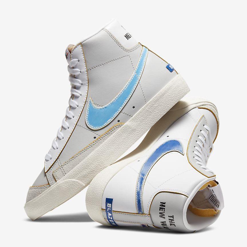 ナイキ-ブレーザー-mid-77-Nike Blazer Mid 77 Vintage DC5203-100 pair light blue blue