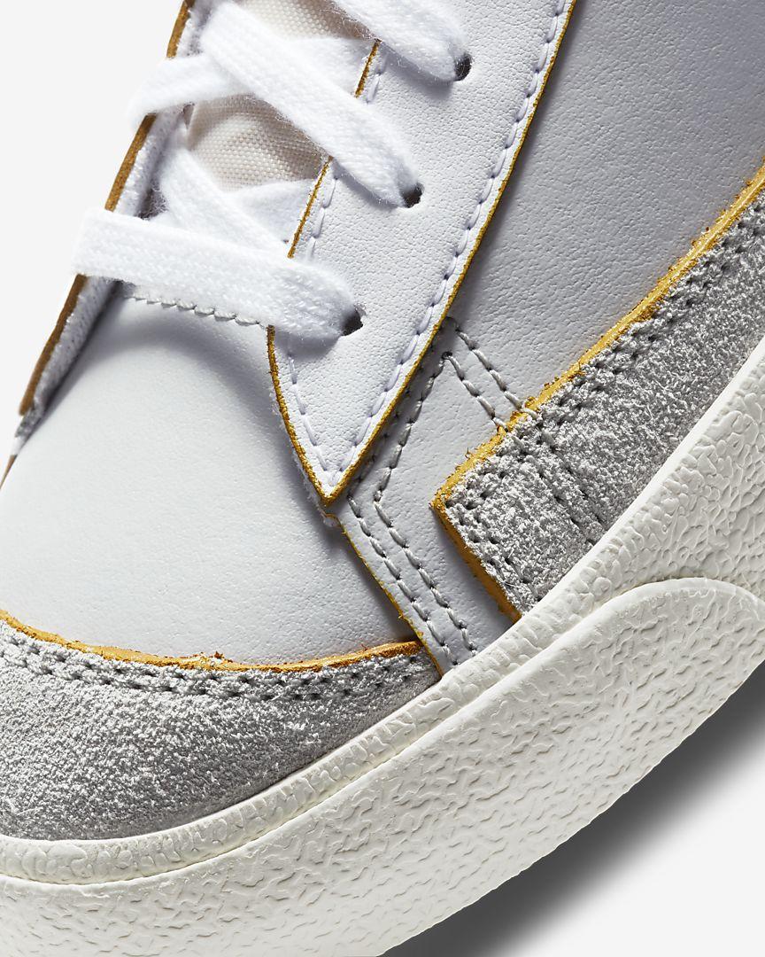 ナイキ-ブレーザー-mid-77-Nike Blazer Mid 77 Vintage DC5203-100 toe closeup