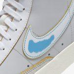 ナイキ-ブレーザー-mid-77-Nike Blazer Mid 77 Vintage DC5203-100 light blue closeup
