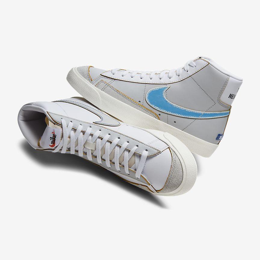 ナイキ-ブレーザー-mid-77-Nike Blazer Mid 77 Vintage DC5203-100 pair light blue top