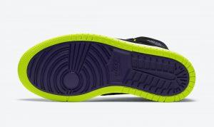"""ナイキ エア ジョーダン 1 ハイ ズーム WMNS """"レモン ヴェナム """" Air-Jordan-1-High-Zoom-Black-Court-Purple-Lemon-Venom-CT0979-001-sole"""