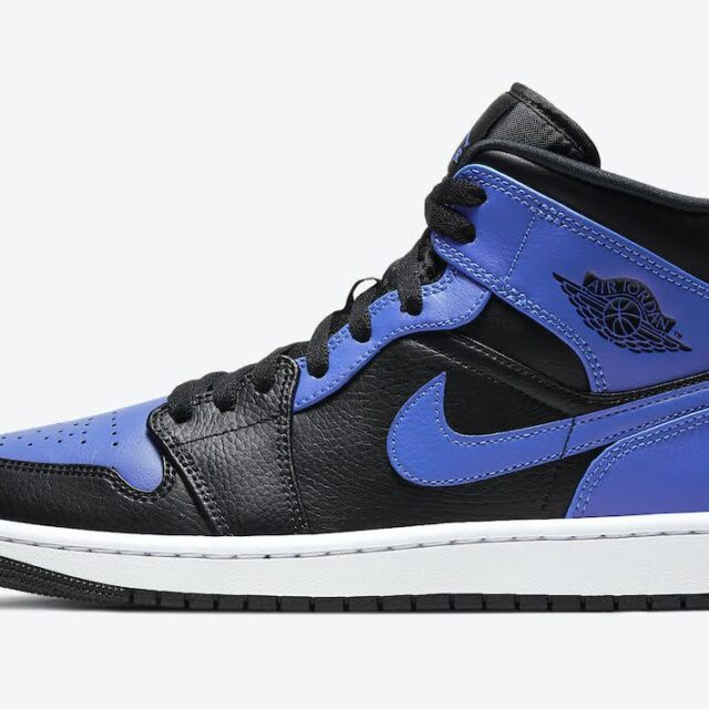 """ナイキ エア ジョーダン 1 ミッド """"ハイパーロイヤル"""" Nike-Air-Jordan-1-Mid-Hyper-Royal-554724-077-side"""