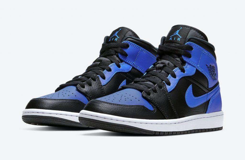 """ナイキ エア ジョーダン 1 ミッド """"ハイパーロイヤル"""" Nike-Air-Jordan-1-Mid-Hyper-Royal-554724-077-pair"""