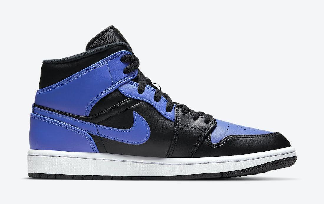 """ナイキ エア ジョーダン 1 ミッド """"ハイパーロイヤル"""" Nike-Air-Jordan-1-Mid-Hyper-Royal-554724-077-side2"""