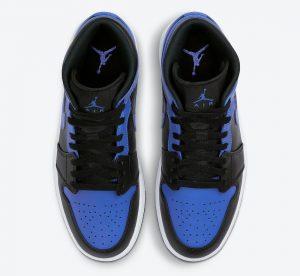"""ナイキ エア ジョーダン 1 ミッド """"ハイパーロイヤル"""" Nike-Air-Jordan-1-Mid-Hyper-Royal-554724-077-top"""