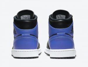 """ナイキ エア ジョーダン 1 ミッド """"ハイパーロイヤル"""" Nike-Air-Jordan-1-Mid-Hyper-Royal-554724-077-heel"""