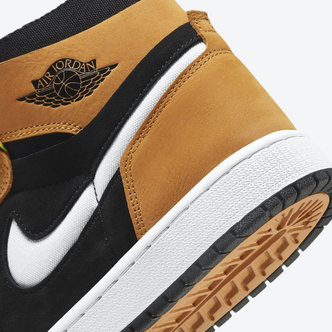 """ナイキ エア ジョーダン 1 ズーム コンフォート """"ブラックウィート"""" Nike-Air-Jordan-1-Zoom-Comfort-Black-Wheat-CT0978-002-side2ナイキ エア ジョーダン 1 ズーム コンフォート """"ブラックウィート"""" Nike-Air-Jordan-1-Zoom-Comfort-Black-Wheat-CT0978-002-heel-closeup"""
