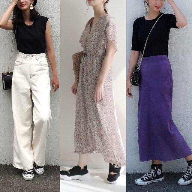 黒 スニーカー コーデ 夏 レディース おすすめ Black Sneaker Outfit Women Summer featured image