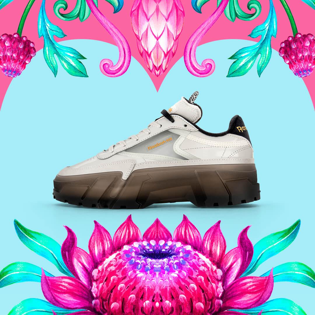 Reebok CLASSIC x Cardi B カーディ・B クラブ シー Cardi B Club C Shoes コラボ image product side