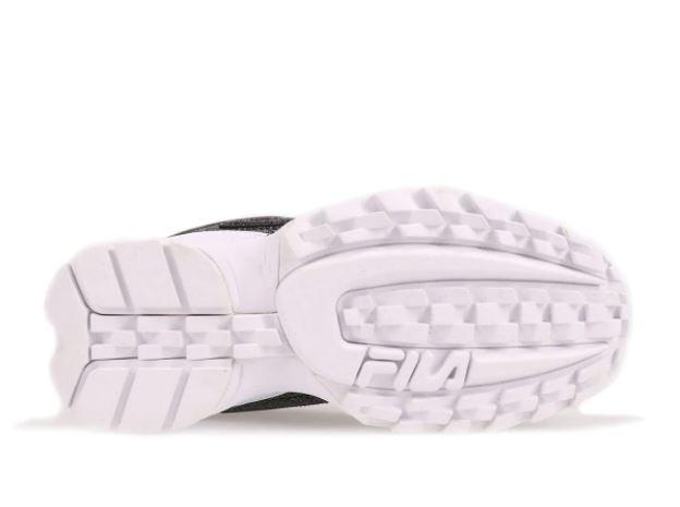フィラ ディスラプター 2 アトモス 限定 FILA DISRUPTOR II GLIMMER Black Black White 20FW sole