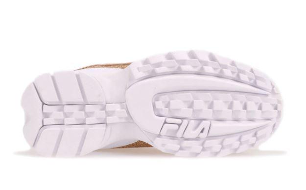 FILA DISRUPTOR II GLIMMER RoseGold RoseGold White 20FW sole