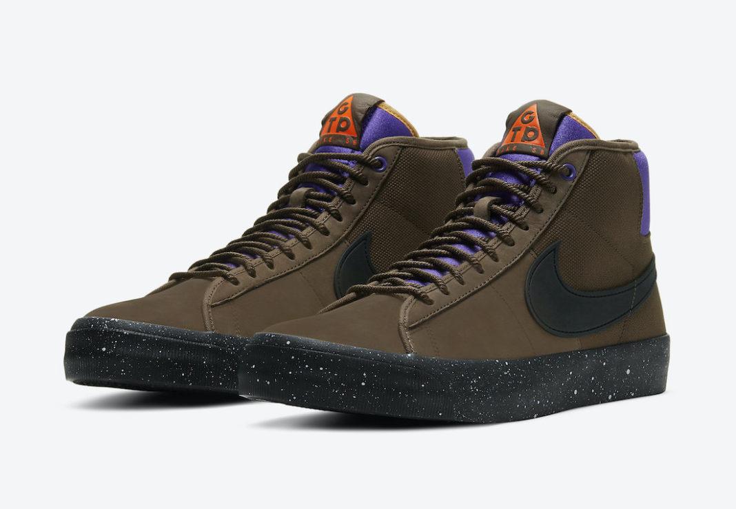 ナイキ SB ブレーザー ミッド GT PRO QS トレイル エンド ブラウン DC0615-200 Grant-Taylor-Nike-SB-Blazer-Mid-GT-Pro-GTP-DC0615-200-pair
