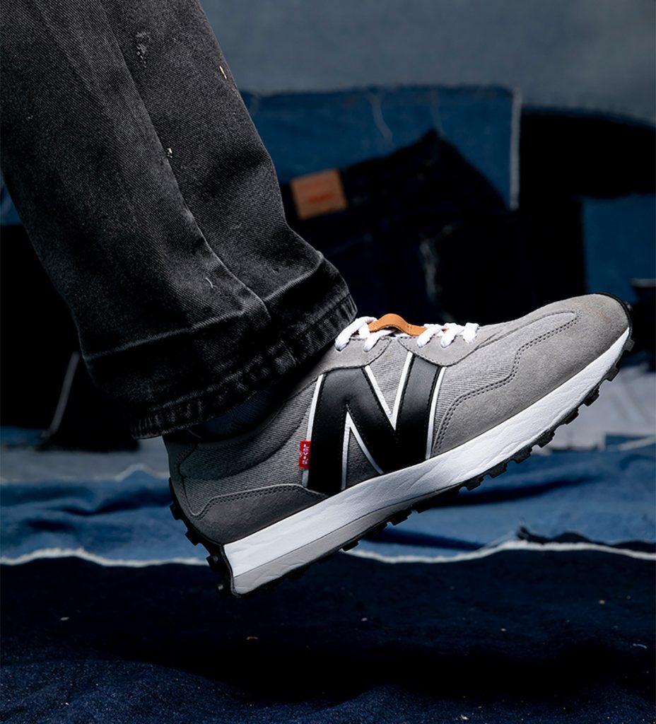 Levi's New Balance 327 リーバイス ニューバランス コラボ スニーカー image denim grey