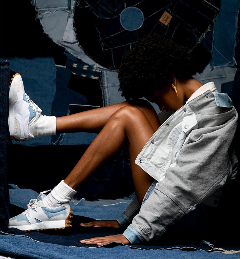 Levi's New Balance 327 リーバイス ニューバランス コラボ スニーカー denim white blue