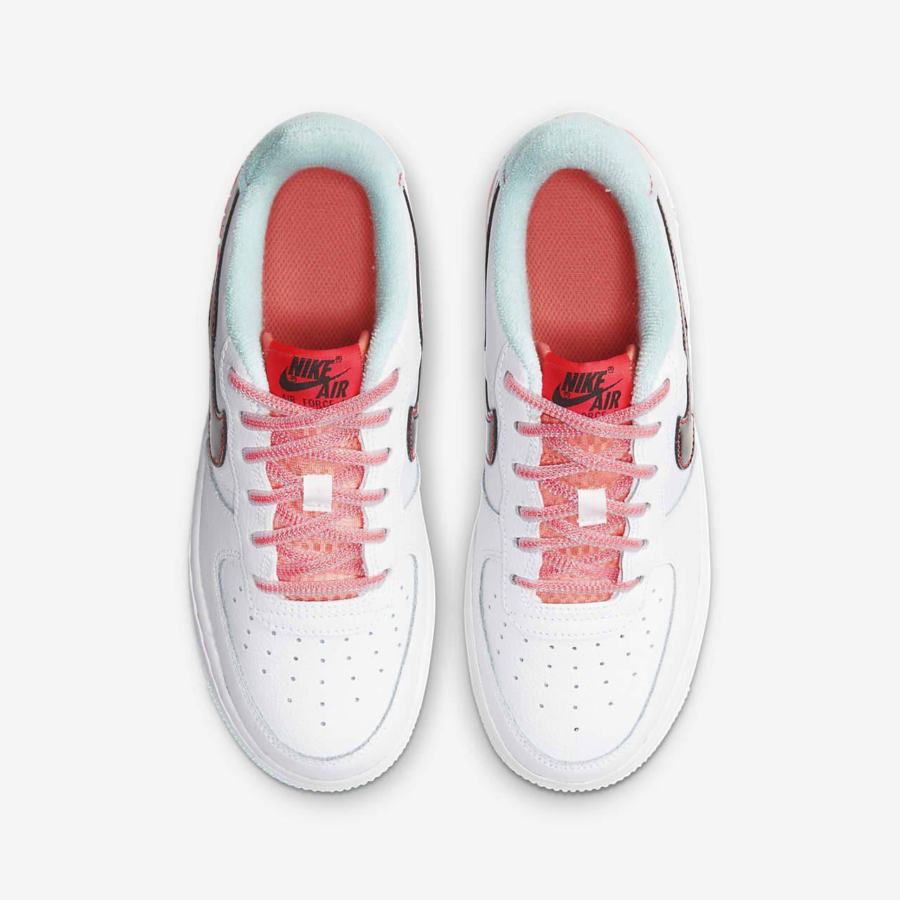 ナイキ エア フォース 1 ホワイト フラッシュ クリムゾン アトミック ピンク Nike Air Force 1 07 LV8 White Flash Crimson Atomic Pink DD7709-100 top