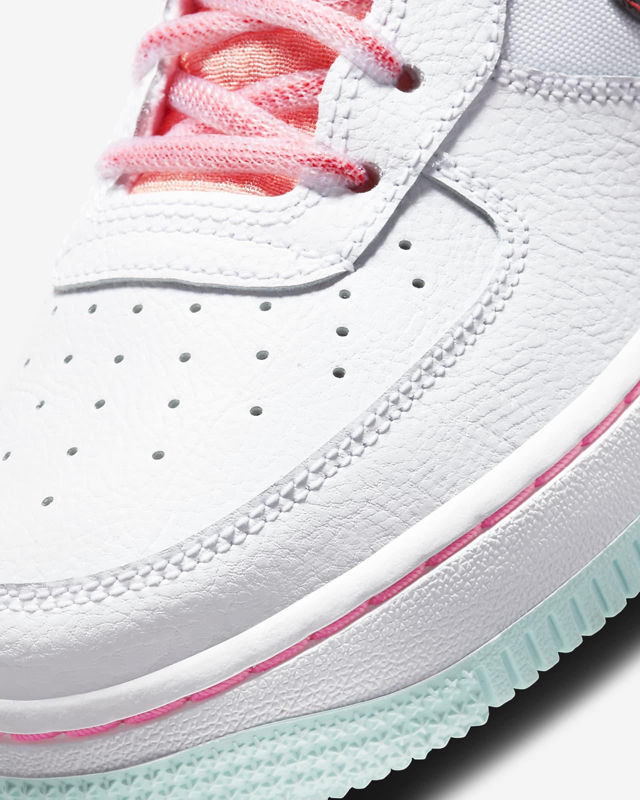 ナイキ エア フォース 1 ホワイト フラッシュ クリムゾン アトミック ピンク Nike Air Force 1 07 LV8 White Flash Crimson Atomic Pink DD7709-100 close toe