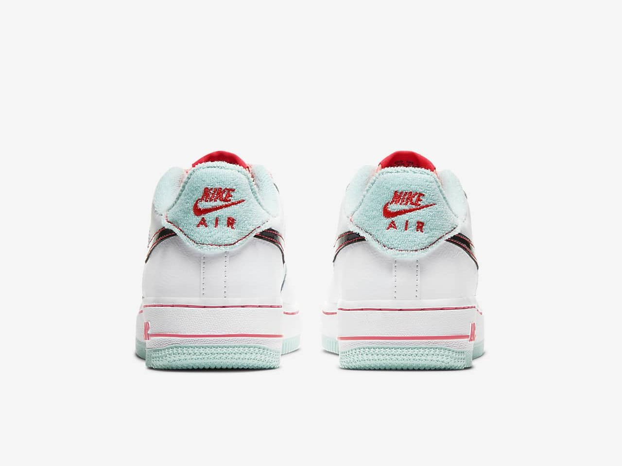 ナイキ エア フォース 1 ホワイト フラッシュ クリムゾン アトミック ピンク Nike Air Force 1 07 LV8 White Flash Crimson Atomic Pink DD7709-100 back