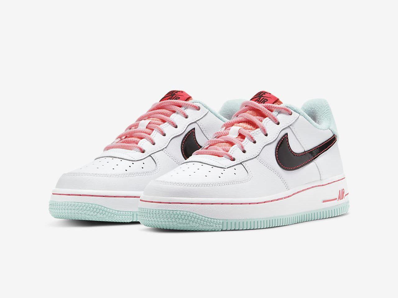 ナイキ エア フォース 1 ホワイト フラッシュ クリムゾン アトミック ピンク Nike Air Force 1 07 LV8 White Flash Crimson Atomic Pink DD7709-100 pair main